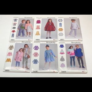 6 Simplicity Sewing Patterns Children's Sizes